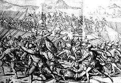 36 - La batalla tuvo lugar en las antiguas salinas indias de Cachipampa, situadas a 5 km al sur de Cuzco, ciudad que fue ocupada por los pizarristas después de su victoria. El lugarteniente de Almagro, Rodrigo Orgóñez, murió en el campo de batalla, al igual que Gonzalo Calvo de Barrientos. Otro jefe almagrista, Pedro de Lerma, quedó herido gravemente y murió poco después asesinado en su lecho. Almagro fue capturado, juzgado sumariamente y ejecutado con la pena del garrote.