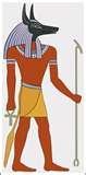 24 - ANUBIS. Dios egipcio, hijo de Osiris, conductor y guardián de los muertos. Las acciones humanas eran pesadas en una balanza por él y Horus.