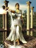 38 - ATENEA. Hija todopoderosa de Zeus, inteligencia pura, la diosa virgen, diáfana y transparente éter, dueña y señora del rayo, de la guerra y la victoria. También protectora de la paz, la salud y la natalidad. Tiene en su haber la creación del Olivo como un regalo para la humanidad. (Grecia).